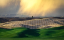A Distant storm in the Palouse