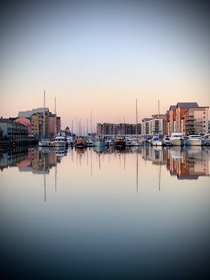 A dose of tranquility in a chaotic world Portishead Marina UK