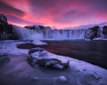 A Dramatic Evening at Godafoss - Iceland  x