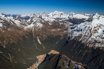 A dream came true I flew with a helicopter over the Southern Alps New Zealand