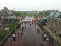 A dreary Easter Monday afternoon on Museum Square Amsterdam