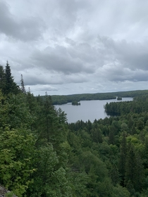 A dreary morning in Algonquin Provincial Park Ontario OC x