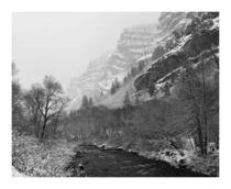 A dust of new snow Provo Canyon Utah  OC