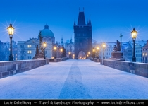 A Dusting of Snow in Prague Czech Republic  by Lucie Debelkova