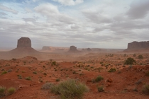 A dusty afternoon in Monument Valley