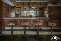 A dusty bar in an abandoned ski resort in Germany