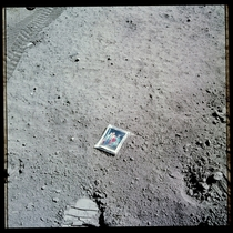 A family photograph left on the surface of the moon by one of the Apollo  astronauts in April  CreditNASA