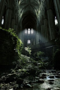 A famous spot in France St Etienne abandoned church
