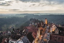 A famous village from a different perspective Rothenburg ob der Tauber Germany