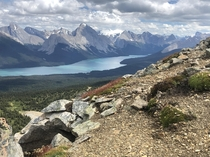 A few hours north of Lake Louise and Moraine Maligne Lakes rugged landscape makes it a close contender