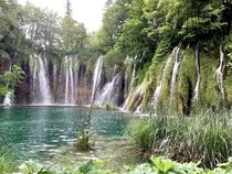 A few of over  waterfalls of Plitvice Lakes Croatia
