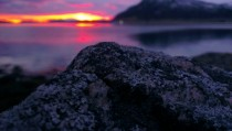 A few pictures of the beautiful midnight sun in Northern Norway rpics didnt notice them More in comment