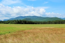 A field just outside of Lake Placid NY