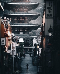 A five-storied pagoda in Kyoto Japan