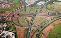 A five way interchange in Ribeiro Preto Brazil