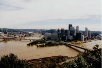A flooded Pittsburgh