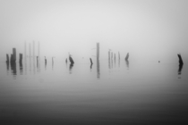 A foggy day on the Hudson River