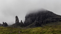 A foggy day on the Isle of Skye yielded an interesting perspective of the Old Man of Storr