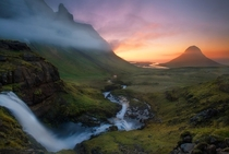 A foggy morning on Kirkjufell Iceland  by Trevor Anderson