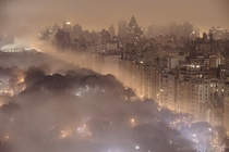 A foggy New York at night by JC Richardson