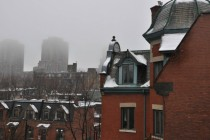 A foggy winter morning in Montreal
