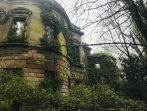 A forest reclaiming a Victorian mansion on Anglesey Wales