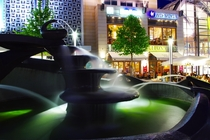 A fountain in a german city in NRW taken  by night