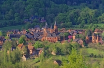 A French village made only of red bricks Collonges-la-Rouge Corrze