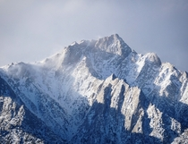 A frigid-looking mountain in the eastern Sierras near Mount Whitney CA