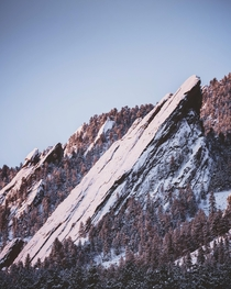 A frosty sunrise at the Flatirons in Boulder CO  erik_young