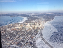 A frozen Madison Wisconsin