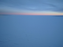 A frozen morning at Lesser Slave Lake in Faust Alberta