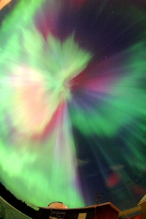 A Full Sky Multicolored Auroral Corona