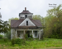 A funky looking little house I shot in the rain South central Illinois  x