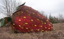 A Giant Abandoned Strawberry In Poland