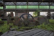 A Giant Flywheel Inside an Abandoned Steel Mill That Helped Produce Atomic Weapons in Upstate New York