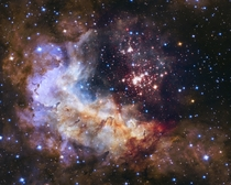 A giant sparkling cluster of about  stars called Westerlund