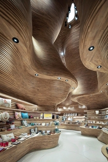 A gift shop by Koichi Takada Architects the National Museum of Qatar