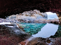 A glimpse of peace in Charco Azul El Hierro Canary Islands
