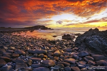 A glorious sunrise at Pebbly Beach in Crescent Head on the north coast of New South Wales Australia