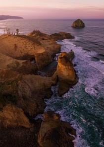 A Glowing Morning Sunrise Near Cape Kiwanda OR