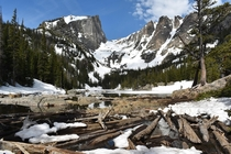 A gorgeous hike in the snow to Dream Lake Rocky Mountain National Park