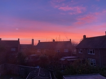 A gorgeous pink sky over Bristol this morning