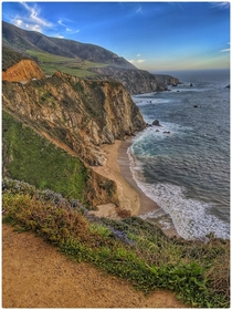 A gorgeous view just off The Bixby Bridge in Monterey CA