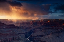 A Grand Canyon winter sunset Arizona