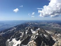 A grand view from the summit of Grand Teton Truly an exceptional expedition on a majestic mountain