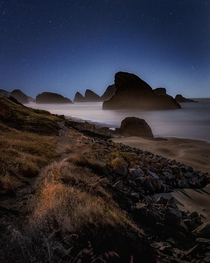 A great night at the Oregon Coast near Brookings OR