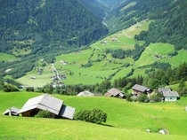 A green valley with houses somewhere in Austria