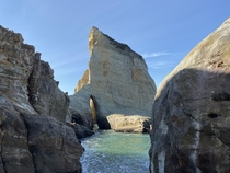 A grotto behind the big dune at Pacific City Oregon