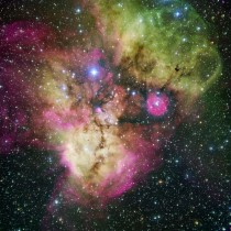 A hauntingly beautiful nebula located in the constellation of Puppis
